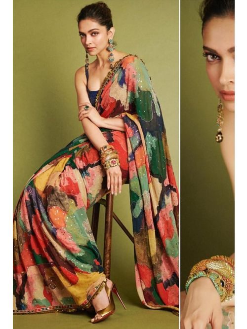 Latest Bollywood Style Mix-Up Saree
